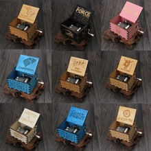 Drop Shipping Wooden Carving Hand-crafted Music Box Pattern