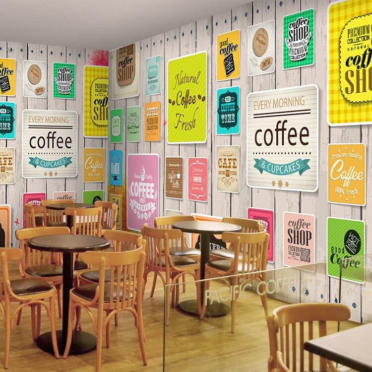 Özel 3d duvar kağıdı kahve fotoğraf duvar çay dükkanı restoran salonu kek dükkanı dekoratif duvar kağıdı duvar