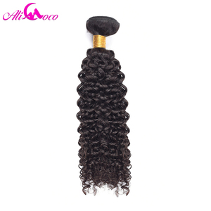 Image 3 - Ali Coco Brazilian Kinky Curly 4 Bundles 100% Human Hair Extensions Natural Color Non Remy Hair Free Shipping