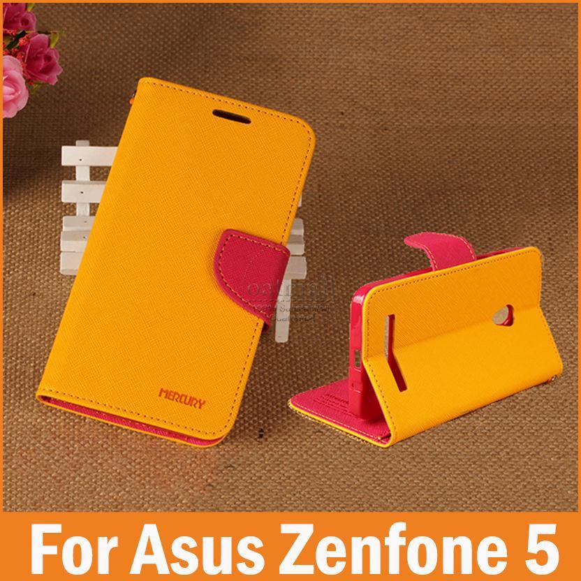 PU Leather Flip Cover Asus Zenfone 5 Case Zenfone5 Capa funda celular Phone Mobile Bags Accessories - Best Watch Store store