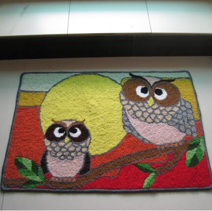 Handmade Owl Rug For Living Room Bathroom Door Machine Washable Rugs Floor  Mat(China (