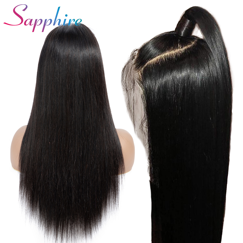 SA Lace Front Human Hair Wigs Brazilian Wig 13x4 Lace Frontal Wig Remy Straight Per Plucked