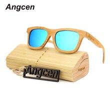 Angcen 2017 New women brand designer men polarized oculos glasses hot ray reading clear wood ladies sunglasses