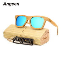 Angcen 2017 New women brand designer men polarized oculos glasses hot ray reading clear wood ladies sunglasses