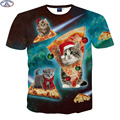 Mr.1991 new youth teens 3D cute super powers cat t-shirt for boys fashion girls t shirt big kids 12-18 years t shirt  A6