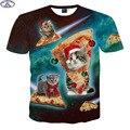 Mr.1991 nueva juventud adolescentes 3D lindo super poderes gato camiseta para muchachos muchachas de la manera camiseta de big kids 12-18 años camiseta A6