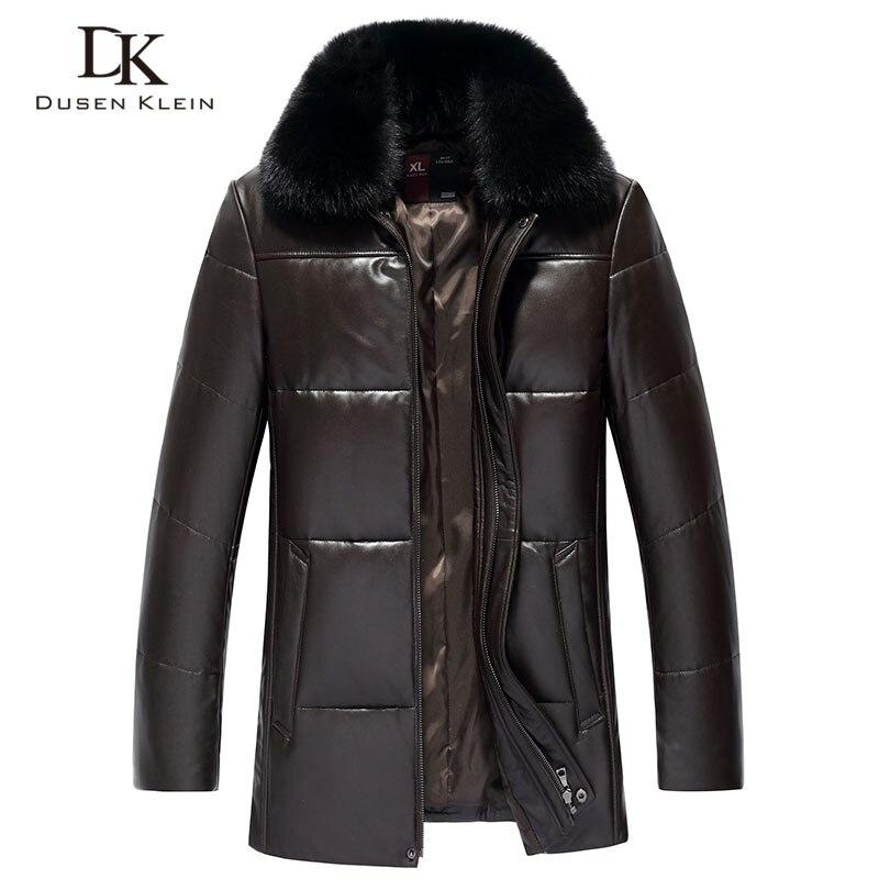 Cuir Véritable des hommes Vers Le Bas Veste Hiver Chaud Manteau Court Survêtement Noir en peau de Mouton 2018 Nouveau Designer Marque De Luxe S18001
