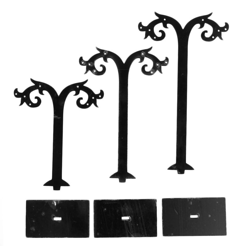 3Pcs Jewelry Earring Ear Stud Display Stand Storage Hanger Holder Show Rack Gift
