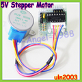 wholesale 20pcs/lot 5V 4phase Stepper Motor+ Driver Board ULN2003 for Arduino 1x Stepper motor +1x ULN2003 Driver board (10set )