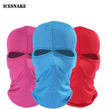 цены ICESNAKE 2 Hole Balaclava Hat Hunting Motorcycle Cycling Headwear Military Tactical War Game Face Full Mask