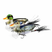 1PCS 10g 7cm 3D Lifelike Duck 2-Segment Topwater Fishing Lure Floating Artificial Bait Treble Hook Hard Tackle Geer