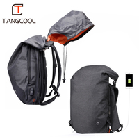 Tangcool Men Backpack For 15.6 inches Laptop Backpack Large Capacity Fashion Student Backpack Waterproof Rucksack for Laptop