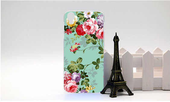 Für Alcatel One Touch Idol 3 6039 6039A 6039 Karat 6039Y 4,7 zoll Fall Diy Malerei Farbige Blumen Obst Idol 3 6039 Fällen Sheer