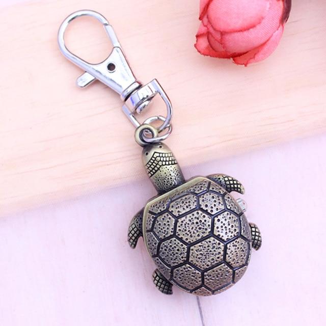 CHAOYADA newest hot sales Key chain Table Retro Pocket Watch Longevity Turtle An