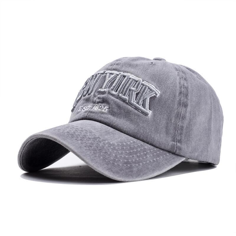 HTB1iTxEvf9TBuNjy1zbq6xpepXaj - oZyc Sand washed 100% cotton baseball cap hat for women men vintage dad hat NEW YORK embroidery letter outdoor sports caps