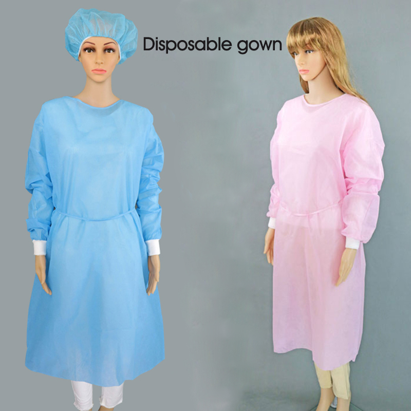 Realistic 10pcs Disposable Surgical Gown Thin And Light Dust Clothes Women And Children Overalls,one-time Aprons Medical Clothing.cleanroom Garment Suitable For Men