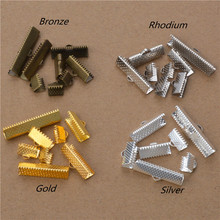 50pcs 8 Sizes Ribbon Cord End Clamps Cap Crimps Beads Clips Buckle Fasteners Clasp Diy Jewelry Findings components cheap Taofe ifafa Crimp End Beads Metal Copper CLIP LEATHER CORD END CRIMP 6 8 10 13 16 20 25 30mm silver gold antique bronze Rhodium