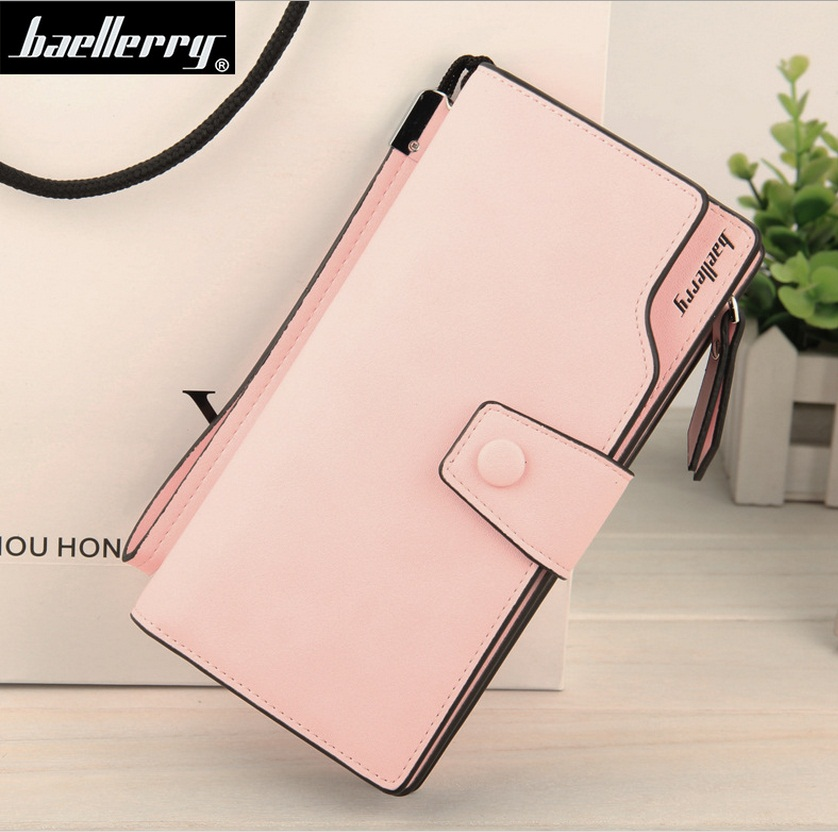 new style Multicolor Ms. wax leather wallet female long paragraph leather w..