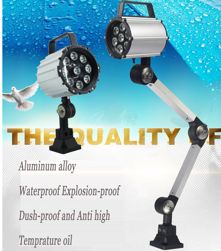 High quality machine tool working lamp,220V Waterproof explosion-proof,Dush-proof and anti high temprature oil.freeshipping