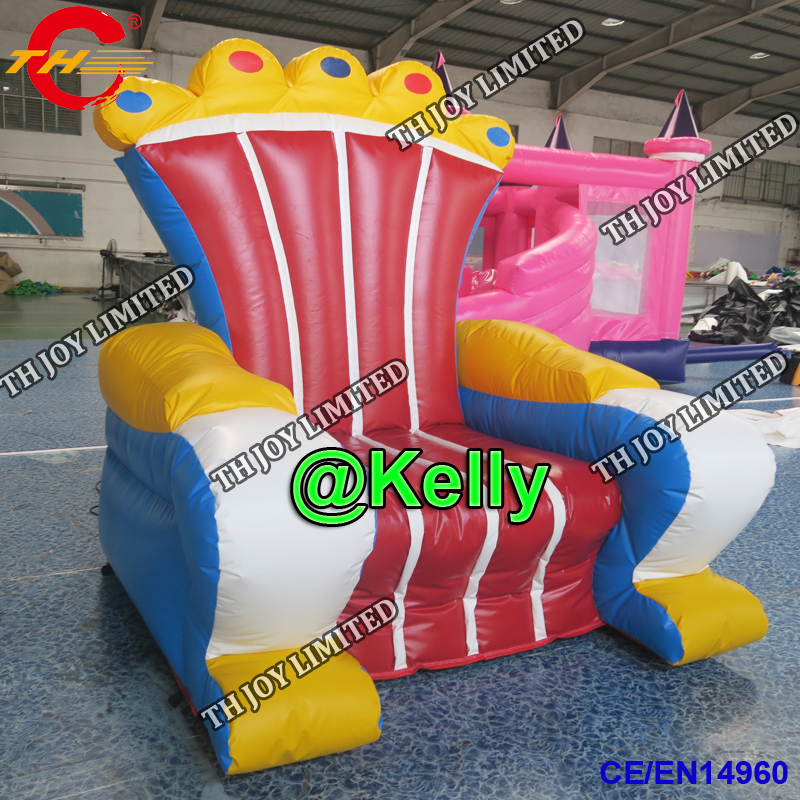 Inflatable Kids Birthday Chair: Free Air Shipping Custom Make Inflatable Throne For Sale