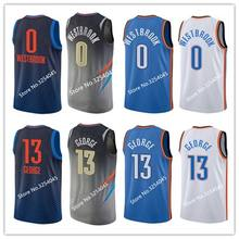 2019 New  13 Paul George  0 Russell Westbrook Throwback Basketball Jersey  Embroidery Stitched US Size S-XXL a1fc6d787