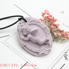 Creative Angel Aromatherapy Gypsum Pendant Molds 3D Boy Soap Making Silicone Mold Oval Shape Chocolate Mould