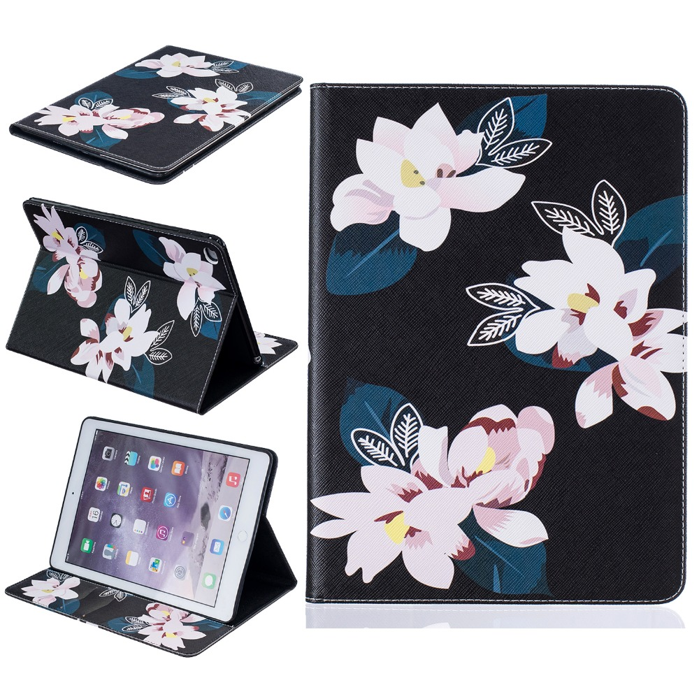 for fundas iPad Air 2 Cover Stand Case for coque iPad Air 2 Case Tablet Cover 9.7 inch with Card Holder