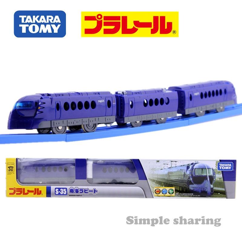 TAKARA TOMY Tomica PLARAIL S35 NANKAI 5000 Train Model Kit South Rapito Diecast Miniature Baby Toys Funny Magic Child Bauble