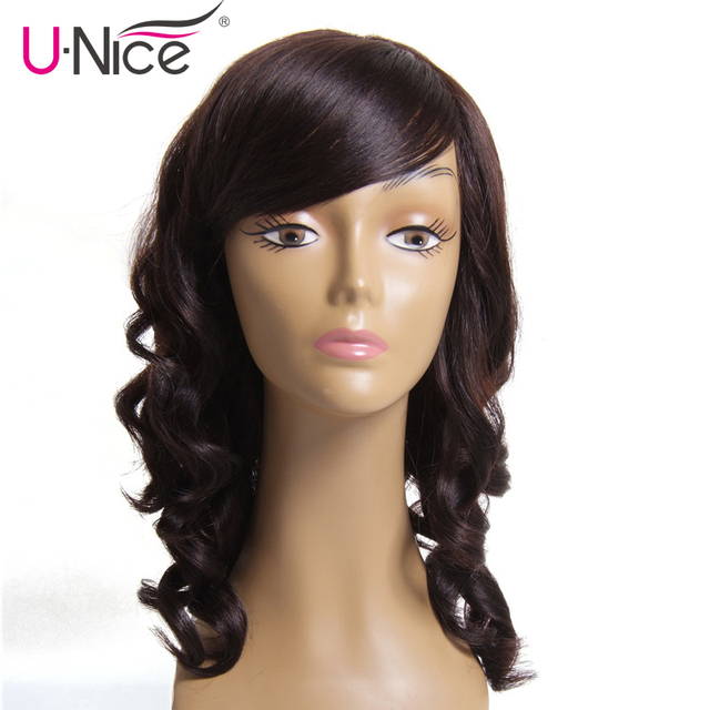 Unice Hair Loose Wave Brazilian Remy Hair Wig 12 Inch 100 Human
