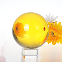 H&D 100mm Crystal Sphere Ball Decorative Photography Ball Magic Glass Healing Ball for Meditation Divination & Interpretation
