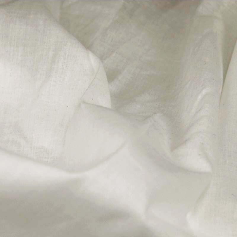 100% coton blanc mince petits tissus transparents tissu textile pour bricolage travail manuel robe jupe doublure rideaux tissu tela
