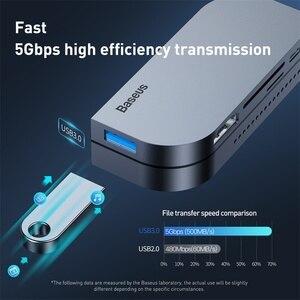 Image 3 - Baseus USB C HUB to USB 3.0 HDMI USB HUB for iPad Pro Type C HUB for MacBook Pro Docking Station Multi 6 USB Ports Type C HUB