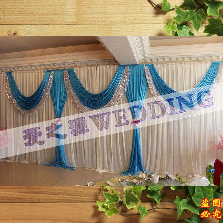 Atacado e varejo 10x20 branco e decorações de palco cenário de casamento do aqua, cortinas de pano de fundo, backdrops pano de fundo de casamento