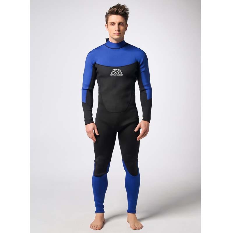 Men 3 mm neoprene long-sleeved pants Warm waterproof diving bathing suit one-piece fullbody diving suit swim set size S-XXL