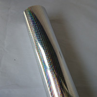 Hot Stamping Foil Holographic Foil Silver Color B08 For Paper Or Plastic 64cm X120m