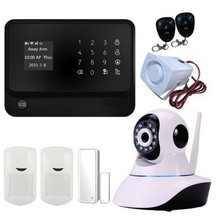 Freeship wifi GSM Dwelling Safety Alarm System with ip digicam Digital Alarm System with Wi-fi Clever PIR Movement wifi alarm