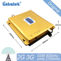 Lintratek GSM Cellular Signal Booster Signal 900 2100 GSM UMTS Amplifier Dual Band Repeater WCDMA 3G Booster 2G #20