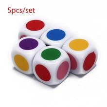 5 шт./лот, акриловые детские настольные игры, шестигранные, белые, вечерние, семейные, забавные настольные игры, развивающие игрушки высокого...
