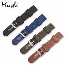 Watch Band Strap Nylon Mesh Watchbands Women Men Black Sport Watches Belt Accessories Relojes Hombre  20mm 22mm 24mm Canvas