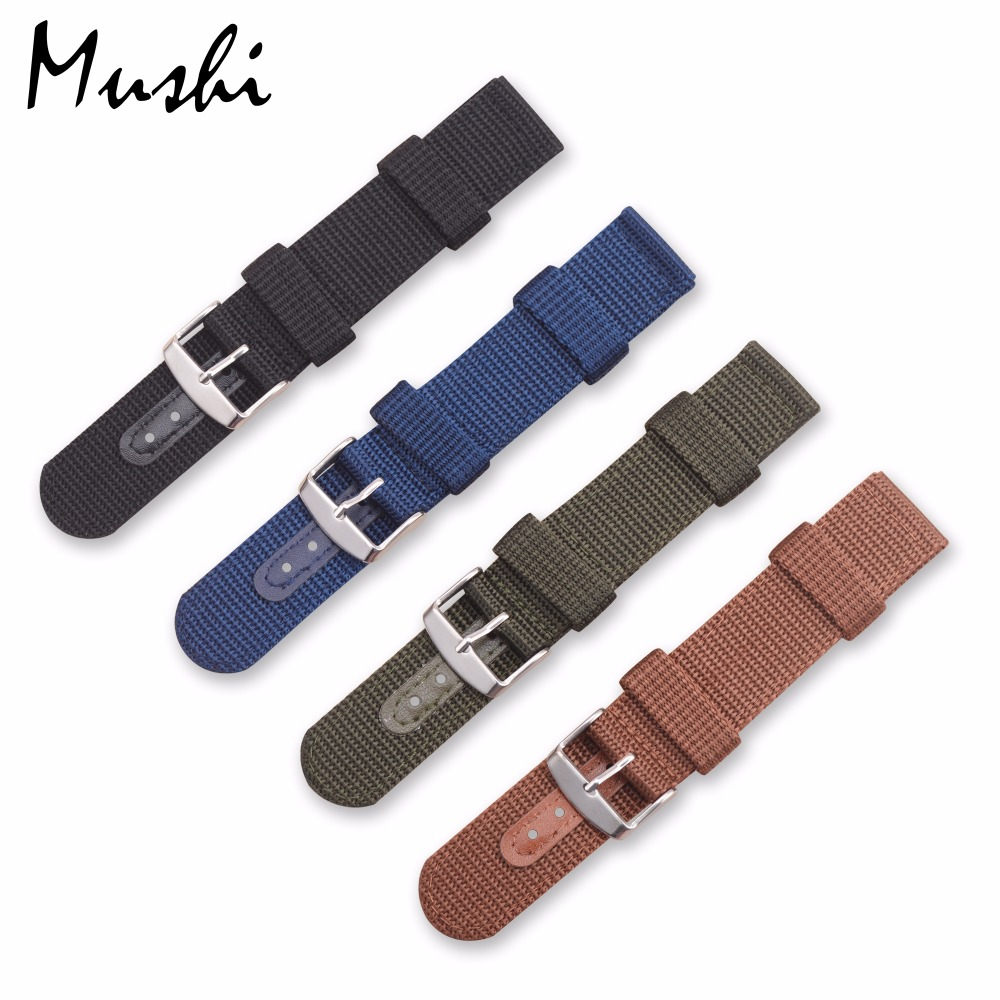 Watch Band Strap Nylon Mesh Watchbands Women Men Black Sport Watches Belt Accessories Relojes Hombre  20mm 22mm 24mm Canvas цена и фото