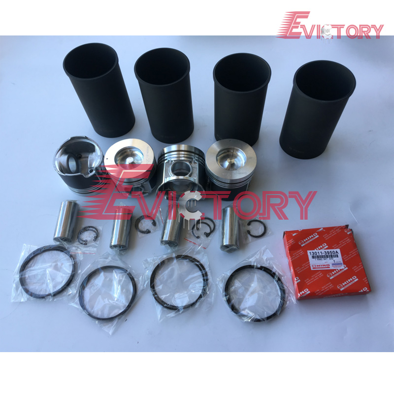 US $710 0 |For Hino 300 truck engine rebuild kit N04C N04CT piston Full  cylinder head gasket kit piston ring set-in Pistons, Rings, Rods & Parts  from