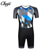 CHEJI на заказ мужской облегающий костюм с низким воротником и короткими рукавами одежда для велоспорта Триатлон для велоспорта Одежда для пл