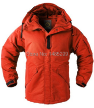 "New ""SouthPlay"" Men's ""Red Color"" Waterproof Outerwear Hood Double Closed Warming Jacket"