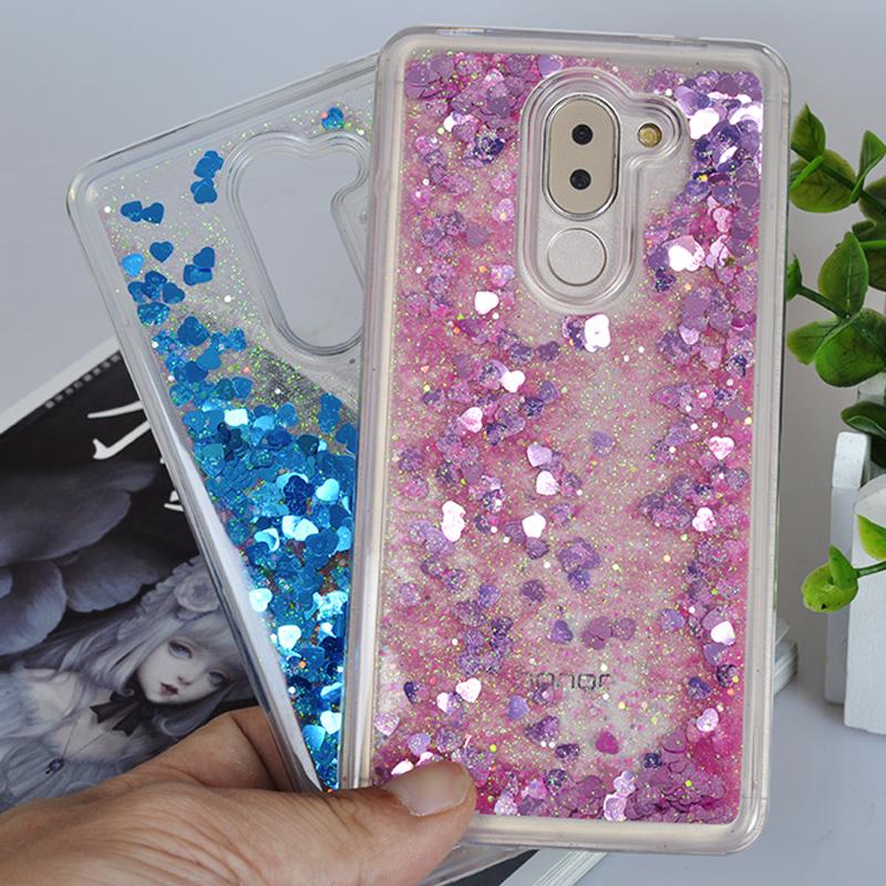 Glitter Bling Heart Water Quicksand Flexible Soft Tpu Phone Case Cover For Xiaomi Redmi Note 4x Liquid Case Coque Fundas Capa Half-wrapped Case