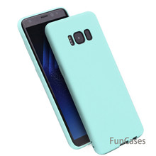 Candy Color Matte TPU Case For Samsung Galaxy S8 S9 Plus J5 J7 J3 2017 Ultra Slim Silicone Phone Cover for Samsung Note 8 9(China)