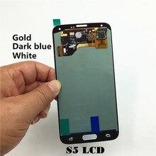 Livraison gratuite 100% Original de Test Pour Samsung Galaxy S5 SM-G900 SM-G900F G900 LCD Écran Tactile Assemblée Blanc/Bleu Foncé/Or