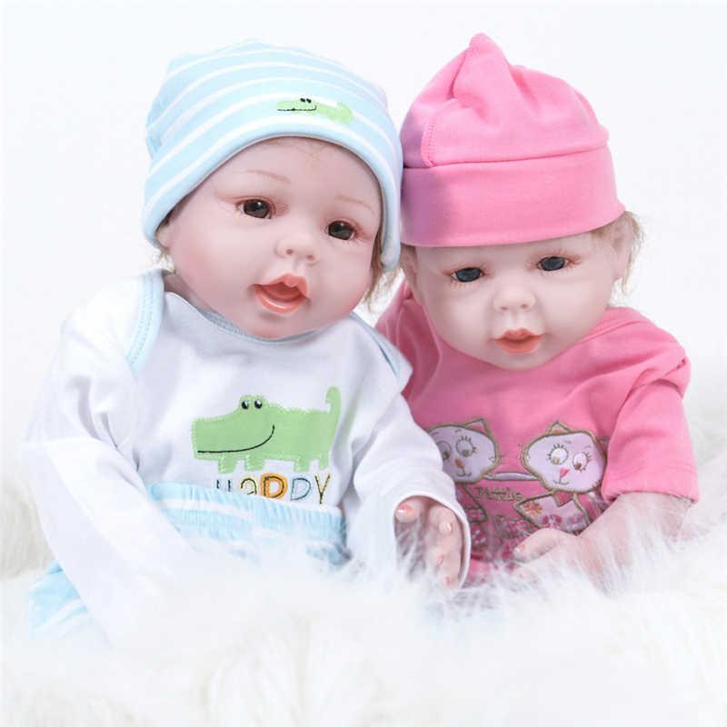 28 см/11 дюймов полный Silicion настоящий сенсорный мягкий винил Reborn Реалистичная кукла-младенец живой милый новорожденный банный младенец для раннего образования