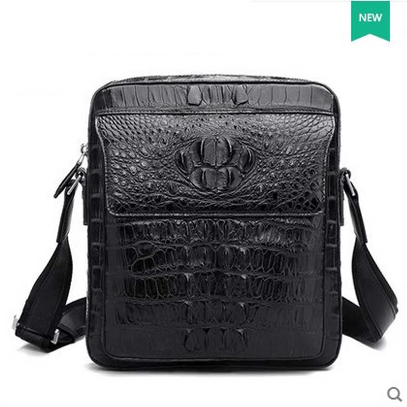 hlt Thai crocodile skin single shoulder bag male handbag real leather leisure fashion large capacity luxury men's slant dadi1 dadi hlt 102
