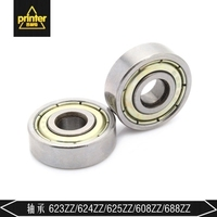 5PCS ABEC-7 Deep Groove Ball Bearing 608ZZ 8X22X7 mm Bearing Steel 608ZZ Skating Bearing  Metric Flanged Bearing