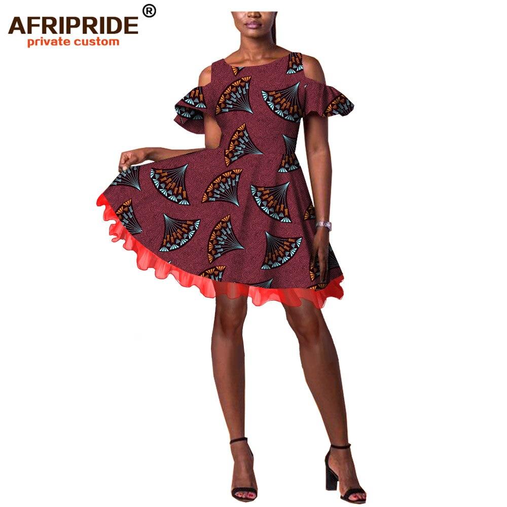 2019 robe moulante africaine ankara tissu sexy cire batik mariage dashiki robes pour femmes imprimer bazin riche AFRIPRIDE A1925028